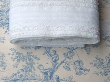 Blue Central Park with White Chenille & Swiss Lace Lot