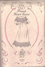 RARE SUSAN OLIVER WORK OF HEART FRENCH GOWN PATTERN