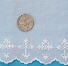 CHRISTIAN CROSSES DOLL HEIRLOOM SEWING SMOCKING SWISS EMBROIDERY LACE EDGE